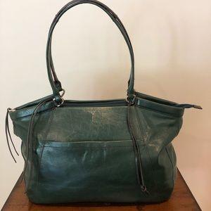 Green Hobo Shoulder Bag.